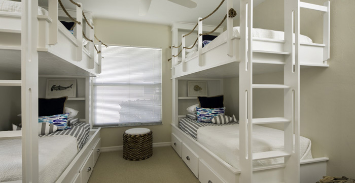 ... to build this two-bed bunk with bookshelves and under the bed storage